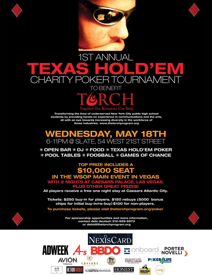 the first annual torch poker tournament fundraiser is this wednesday torch alumni network. Black Bedroom Furniture Sets. Home Design Ideas